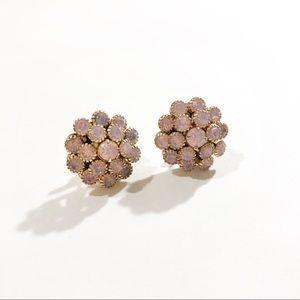 Bella Jack Pink Jewel Cluster Stud Earrings